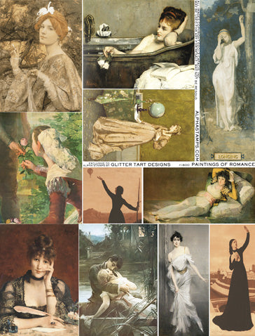 Paintings of Romance Collage Sheet