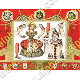Paper Theatre Commedia Curtains Collage Sheet