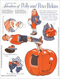 Peter Pumpkin-Eater Paper Dolls Collage Sheet