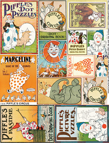 Piffle's Circus Collage Sheet