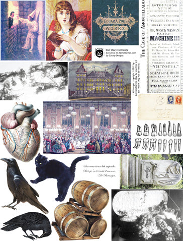 Poe Story Elements Collage Sheet