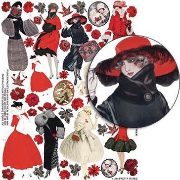 Pretty in Red Collage Sheet