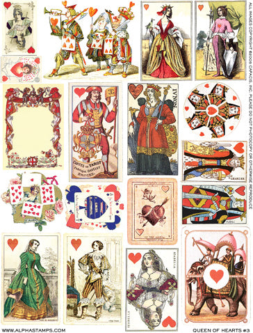 Queen of Hearts #3 Collage Sheet