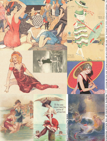 Remote Cousins of the Saucy Mermaid Collage Sheet