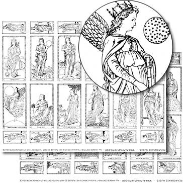 Renaissance Muses Collage Sheet Set