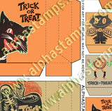 Retro Halloween Bags Collage Sheet