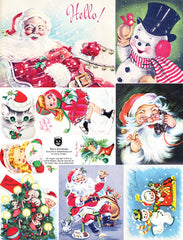 Retro Christmas Collage Sheet