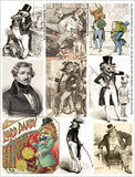Robber Barons ATCs Collage Sheet