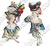 Rococo Busts Collage Sheet
