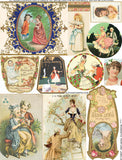 Romantic Perfume Labels Collage Sheet