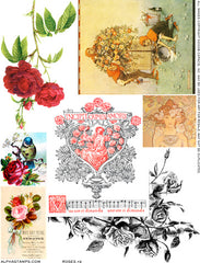 Roses #2 Collage Sheet