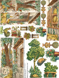 Rustic Trees & Foliage Collage Sheet