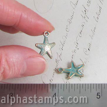 13x17mm Patina Starfish Charms