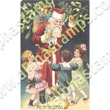 Santa and Children Collage Sheet