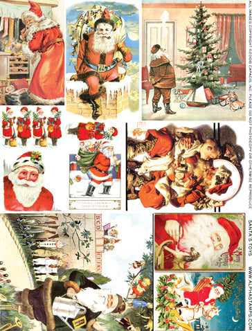 Santa's Toys Collage Sheet