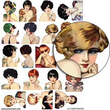 Sassy Beauties Collage Sheet