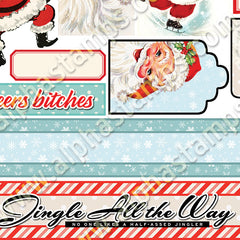 Sassy Santas Collage Sheet
