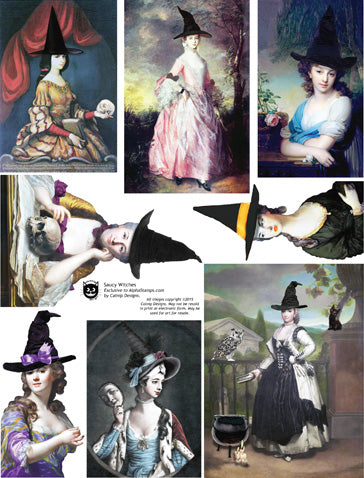 Saucy Witches Collage Sheet