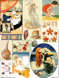 Seashore Collage Sheet