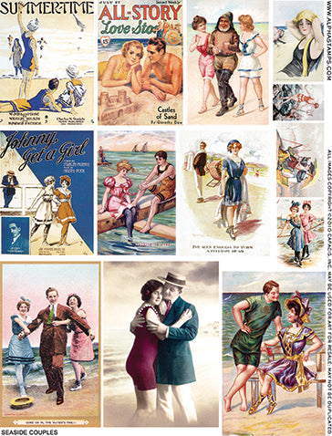 Seaside Couples Collage Sheet