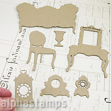 Victorian Furniture Chipboard Set - Sofa