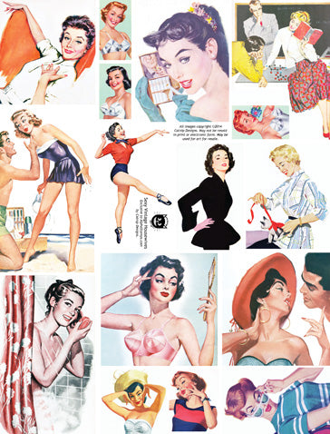 Sexy Vintage Housewives Collage Sheet