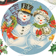 Silly Snowmen Ornaments Half Sheet