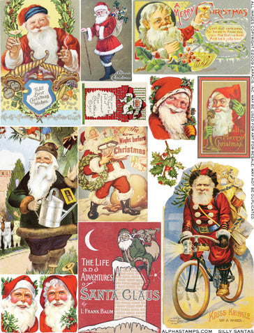 Silly Santas Collage Sheet