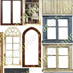 Small Shabby Doors & Windows Collage Sheet