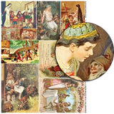 Snow White with the Dwarves Collage Sheet