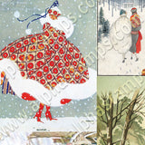 Snowy Winter Ladies Collage Sheet