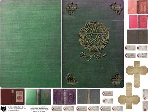 Spell Book Box Covers Collage Sheet