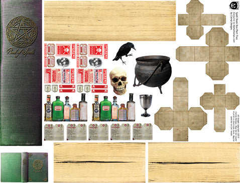 Spell Book Box Extras Collage Sheet