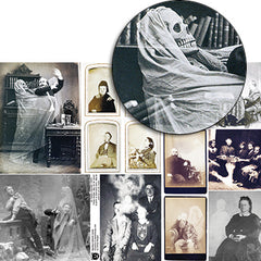 Spooky Cabinet Cards Collage Sheet