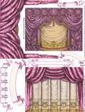 Square Shadowbox Curtains - Pink Collage Sheet
