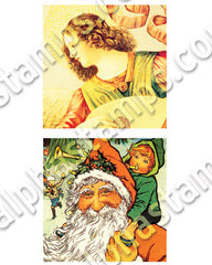Square Santas Collage Sheet