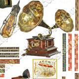 Steampunk Study Collage Sheet