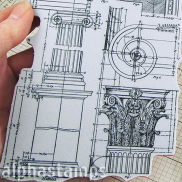 Tim Holtz Architecture Cling Stamp Set