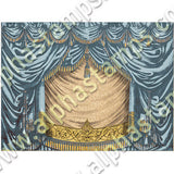 Square Shadowbox Curtains - Teal Collage Sheet