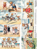 Teddies at the Beach Collage Sheet