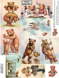 Teddy Bears #1 Collage Sheet