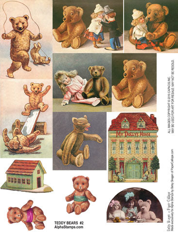 Teddy Bears #2 Collage Sheet
