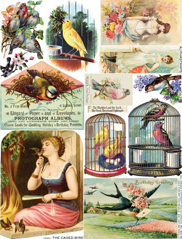 The Caged Bird Collage Sheet