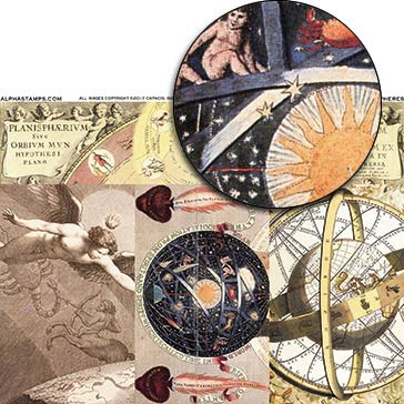 The Celestial Spheres Collage Sheet