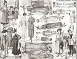 The Mode in French Fashion Collage Sheet