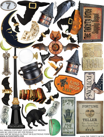 The Thrifty Witch Collage Sheet