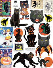 The Black Cat Collage Sheet