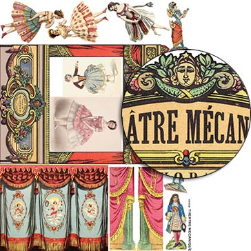 Theatre Mecanique Collage Sheet