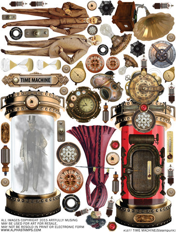 Time Machine Collage Sheet