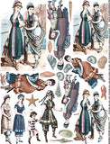Tinted Beachwear Collage Sheet